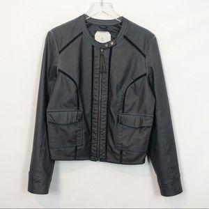 Hei Hei Vegan Leather Bomber Jacket Large